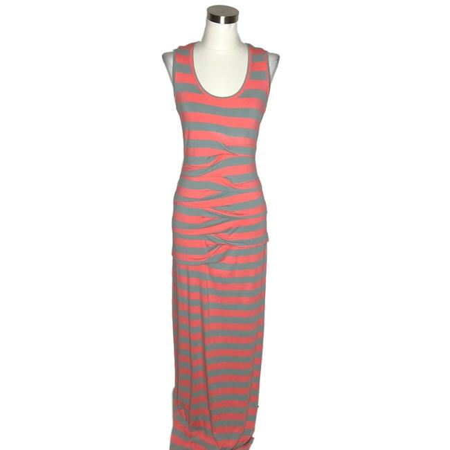 Item - Pink Gray N898 Artelier X A Pea In A Pod Small 6 Long Casual Maxi Dress Size 4 (S)