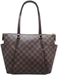 Louis Vuitton Lv Totally Canvas Damier Ebene Shoulder Bag