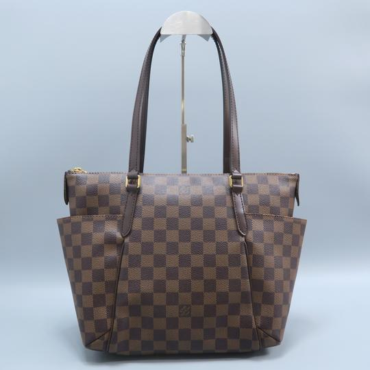 Louis Vuitton Lv Totally Canvas Damier Ebene Shoulder Bag Image 1
