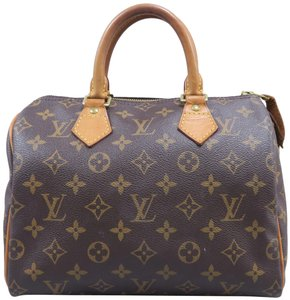 Louis Vuitton Lv Speedy Monogram Canvas Tote in Brown