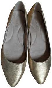 Aerosoles Shinny Metallic gold leather Flats