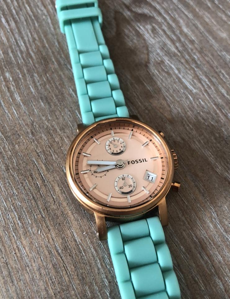 Rose Gold and Teal Watch