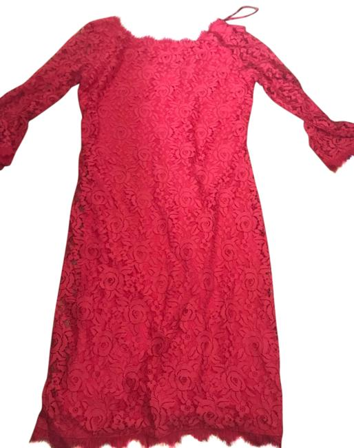 Item - Pink Red Mid-length Cocktail Dress Size 4 (S)
