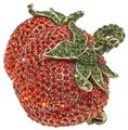 Heidi Daus Red Strawberry Tomato Brooch Pin Fantastic Find Heidi Daus Red Strawberry Tomato Brooch Pin Fantastic Find Image 1