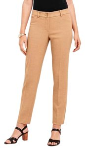 Talbots Camel Crepe Ankle Slim Tapered Straight Pants