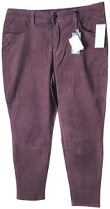 Melissa McCarthy Seven7 New With Tags Pencil Corduroy Slimming Silhouette Cotton/Spandex Skinny Pants Twilight Mauve
