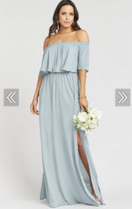 bcf46abc50be Show Me Your Mumu Silver Sage Hacienda Maxi Casual Bridesmaid/Mob Dress  Size 4 (