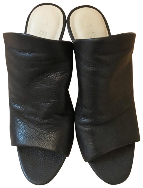 Item - Black Leather Mule Boots/Booties Size US 6.5 Regular (M, B)