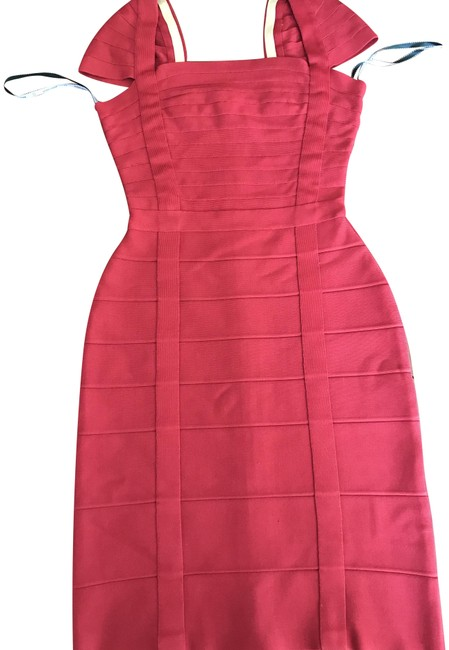 Item - Ruby Red Bandage Short Cocktail Dress Size 0 (XS)