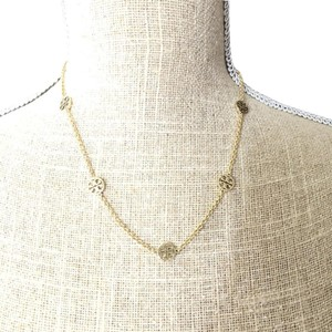 Tory Burch Brand New Tory Burch GOLD Delicate Logo Double T Necklace
