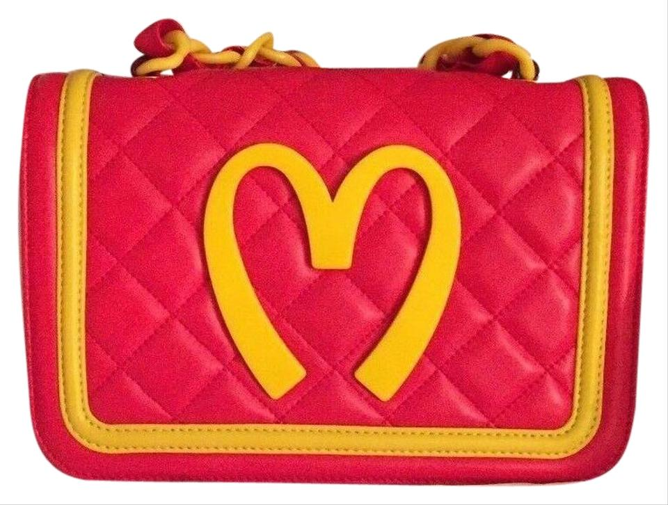 eaae531cecc Moschino Jeremy Scott Mcdonalds Fast Food Quilted Red Sheepskin ...