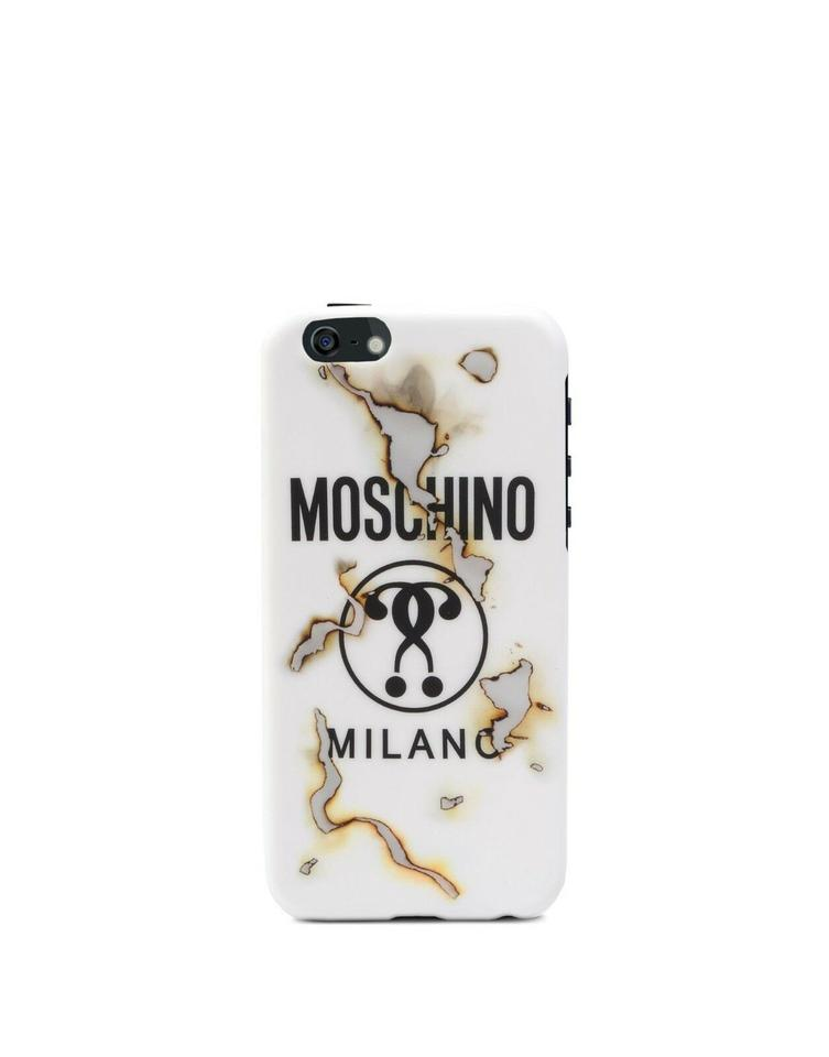 sale retailer 4b424 0b263 Moschino White Jeremy Scott Burnt Effect Smoke Fashion Case Iphone 6 Plus /  6 Plus S Tech Accessory