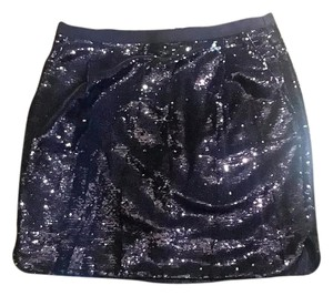 J.Crew Sequin Mini Skirt Navy