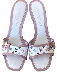 Louis Vuitton White/Lavender Wedges
