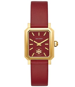 Tory Burch FLASH-SALE ROBINSON WATCH, RED LEATHER 27 X 29 MM