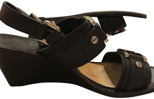 Tory Burch Leather Sandals Dress Up Or Down Black Wedges
