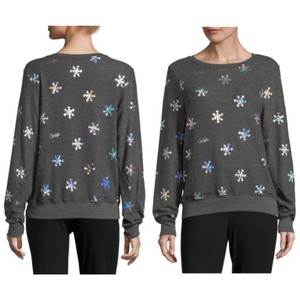 Wildfox Sweater Winter Snowflake Holiday Crewneck Sweatshirt