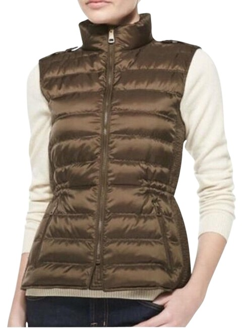 Item - Military Bronze Brit Cranstead Down Puffer Quilted Vest Size 4 (S)