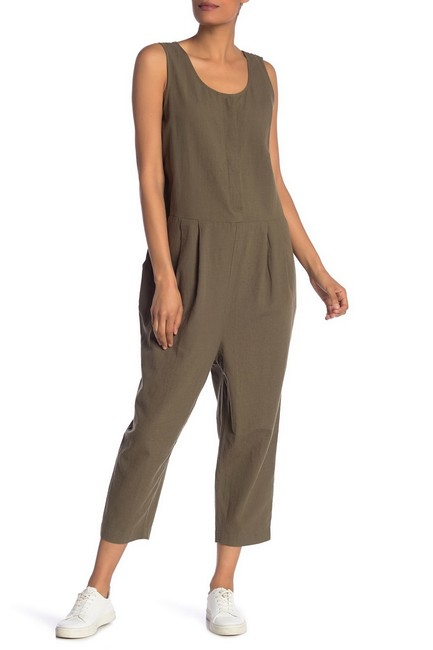 Item - Green Olive Organic Cotton Crepe Size Small Romper/Jumpsuit