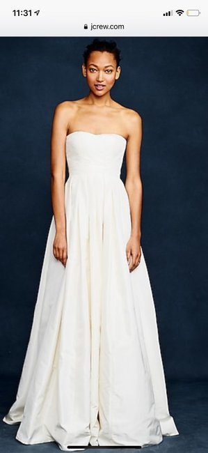 Item - Ivory Silk Taffeta Marlie Ball Gown Formal Wedding Dress Size 4 (S)