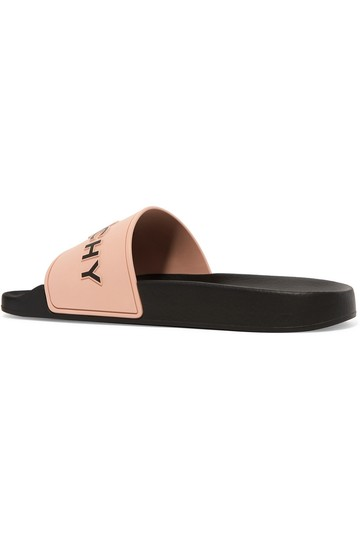 Givenchy Logo Slide Slide Rubber Slide Black Sandals Image 1