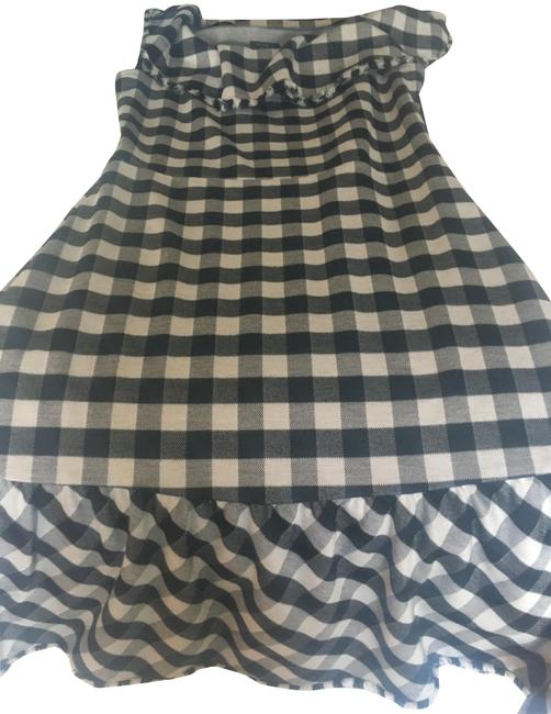 Item - Black and White Short Casual Dress Size Petite 2 (XS)
