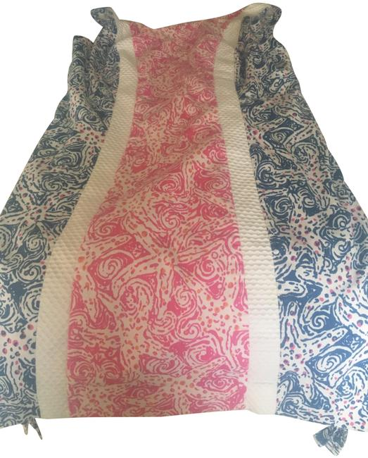 Item - Blue and Pink Short Casual Maxi Dress Size 4 (S)