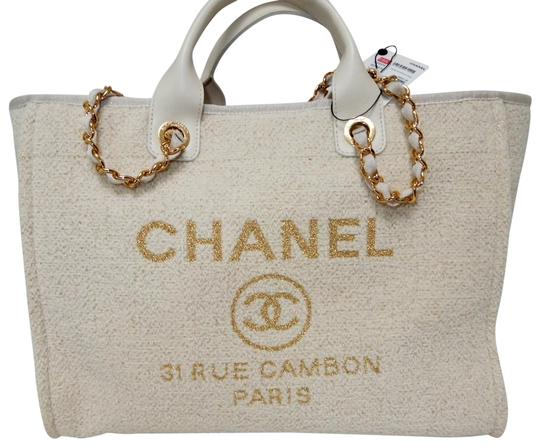 Preload https://img-static.tradesy.com/item/25474862/chanel-deauville-bag-shopper-new-2019-ivory-canvas-tote-0-1-540-540.jpg