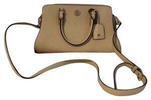 Tory Burch Satchel in Toasted Wheat/Gray