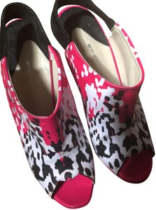 Nicholas Kirkwood Open Toe Multi color pink black and white Pumps