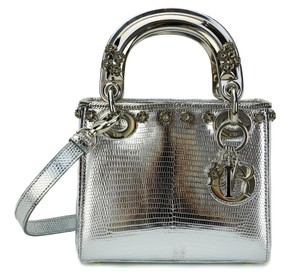 Dior Lady Exotic Lizard Cross Body Bag