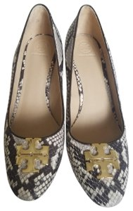 Tory Burch Snake Pump Leather Brown Wedges