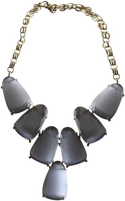 Item - Grey Cats Eye - Gold Harlow Glass Nwot Necklace