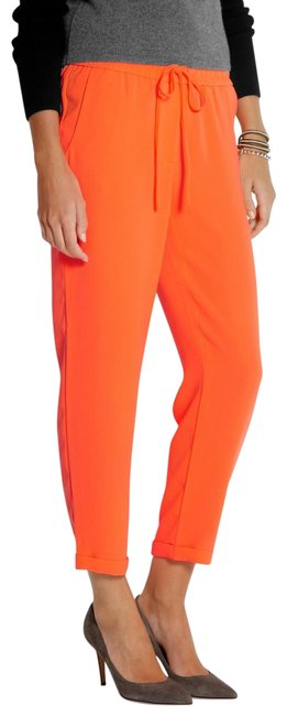 Item - Orange Crepe Capris Size 4 (S, 27)