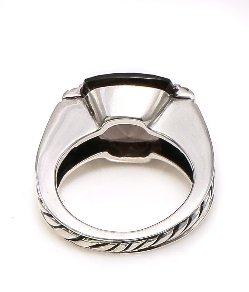 09adbe52d41bc David Yurman Sterling Silver Smoky Quartz with Side Diamonds Albion Ring  37% off retail