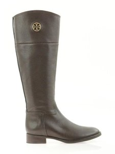 Tory Burch Brazil Dark Zip Zipper Round Toe Brown Boots