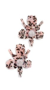 Lele Sadoughi Lele Sadoughi Pink & Black E250 Lily Clip Earrings with Ball Necklace