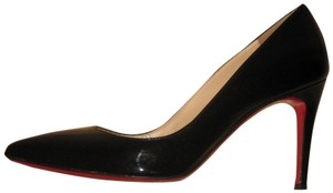 Christian Louboutin Patent Leather Pointed Toe Stiletto Black Pumps