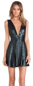 NBD Sequined Sequin Fit And Flare Dress