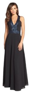 Dress the Population Sequin Sequined Distressed Maxi Dress