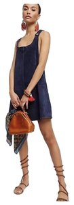 Free People short dress Navy Suede Leather on Tradesy