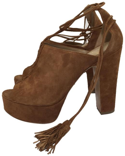 Item - Brown Suede Lace Up Platforms Size EU 39 (Approx. US 9) Regular (M, B)