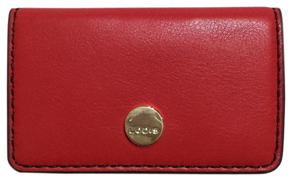 competitive price fa509 3ec56 Lodis Red Leather Card Case Id Holder Rfid Wallet