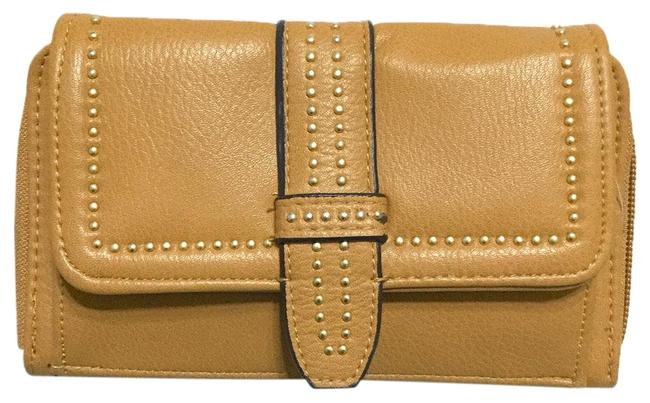Item - Rusted Gold Large Flap Zip Around Faux Leather Pijut Wallet