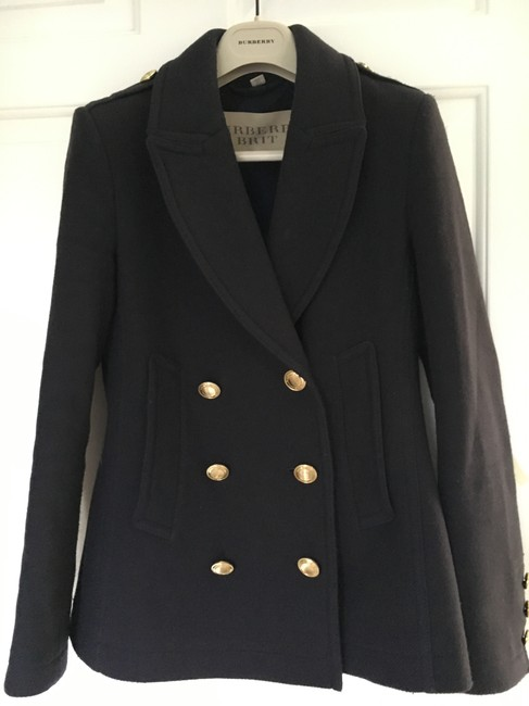 Burberry Cashmere Wool Pea Coat Image 5