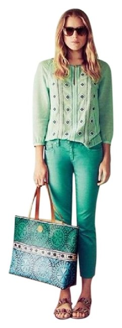 Item - Viridian Green Light Wash Alexa New with Tag Cropped Skinny Jeans Size 27 (4, S)