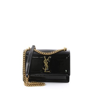 Saint Laurent Shoulder Patent Leather Cross Body Bag
