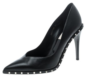 Valentino Leather Pointed Toe Black Pumps
