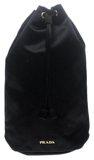 Prada Satin Black Clutch Image 0