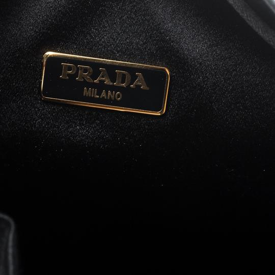 Prada Satin Black Clutch Image 6